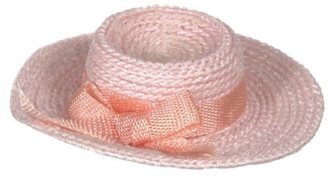 Dollhouse City - Dollhouse Miniatures Lady's Hat  - Small and Pink