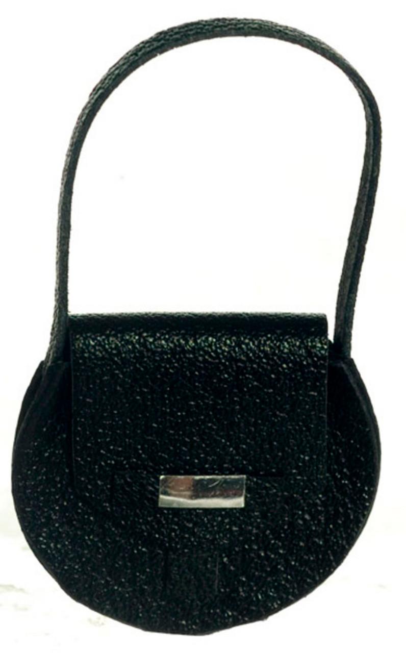 Dollhouse City - Dollhouse Miniatures Lady's Handbag  - Black