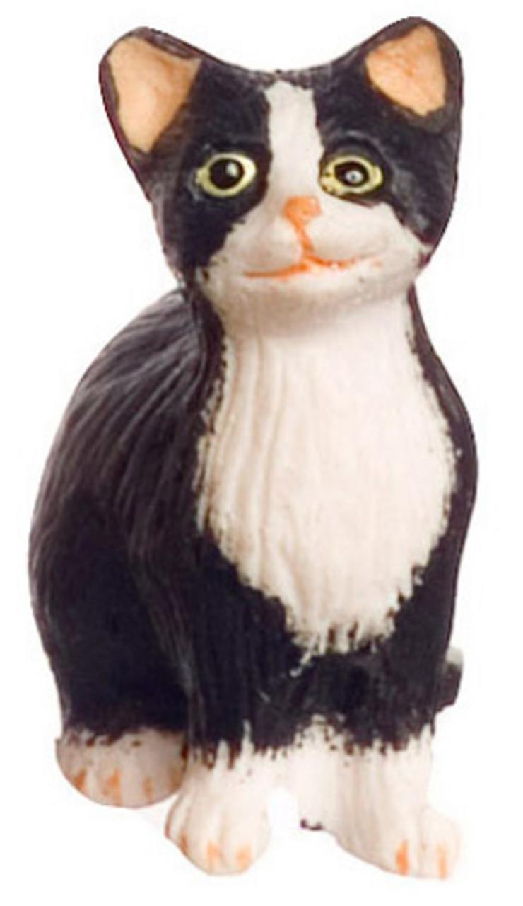 Dollhouse City - Dollhouse Miniatures Sitting Cat with Socks