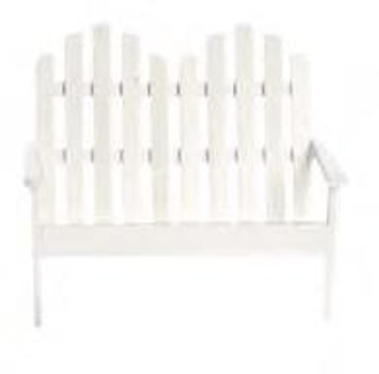 Adirondack Double Chair - White