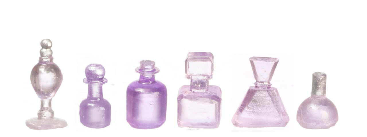 Dollhouse City - Dollhouse Miniatures Assorted Bottles Set - Lavender