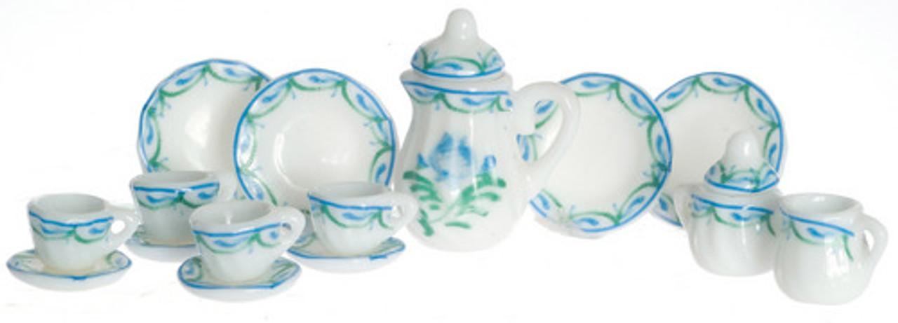 Tea Set - Green Floral