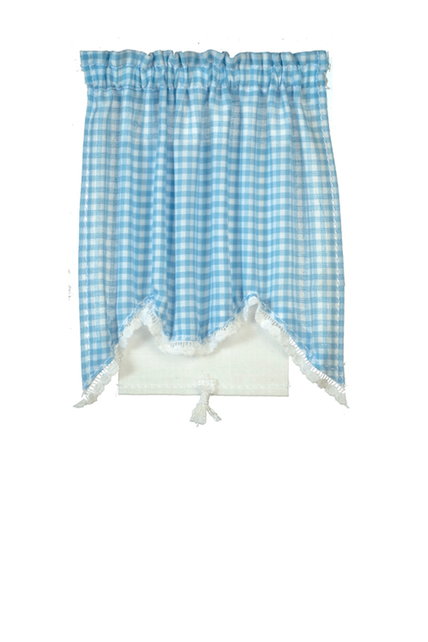 Curtains Set - Long Swag and Blue