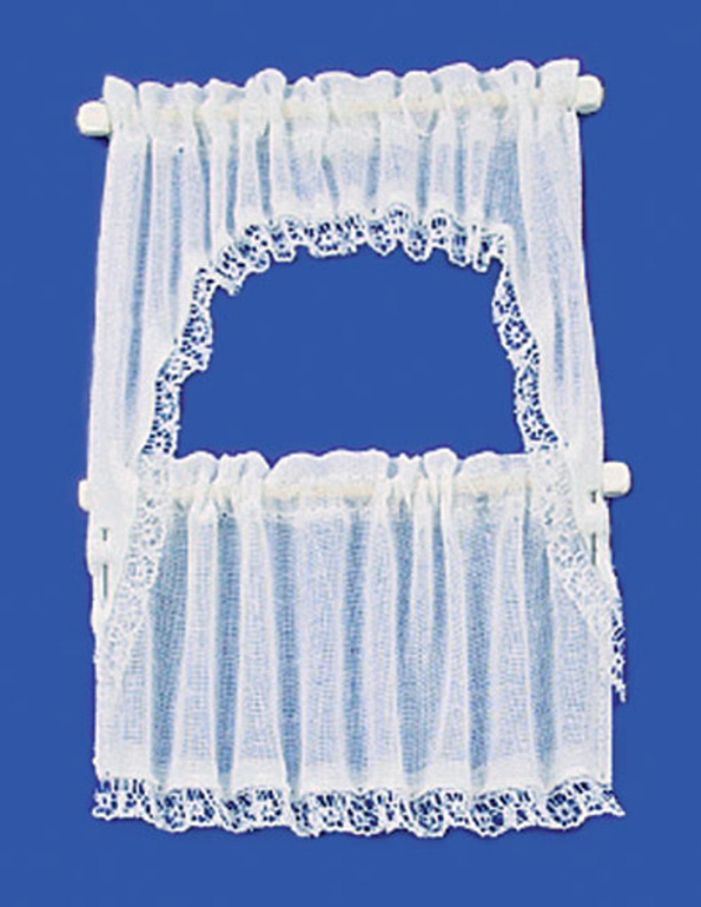 Curtains Set - Demi Cape and White