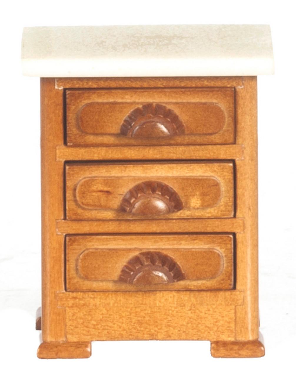 Victorian Night Table - Walnut