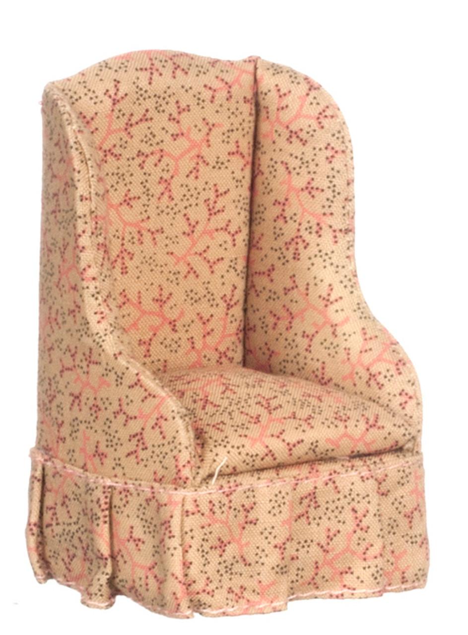 Dollhouse City - Dollhouse Miniatures Chair - Tan Fabric