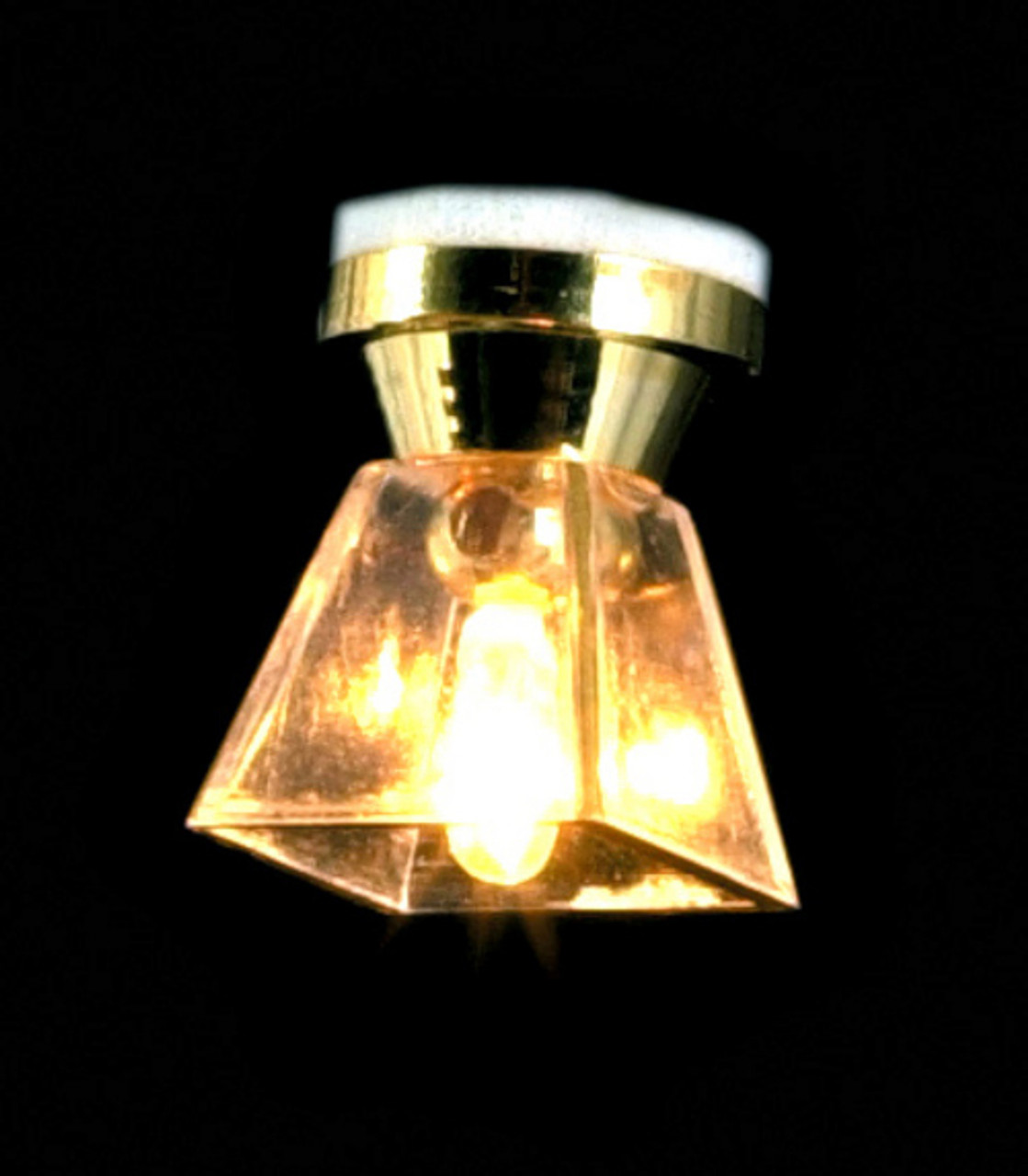 Square Ceiling Lamp - Clear