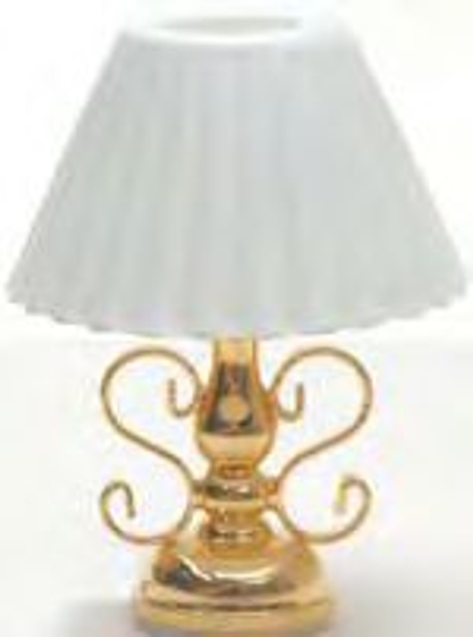 Ornate Table Lamp - Fluted Shade