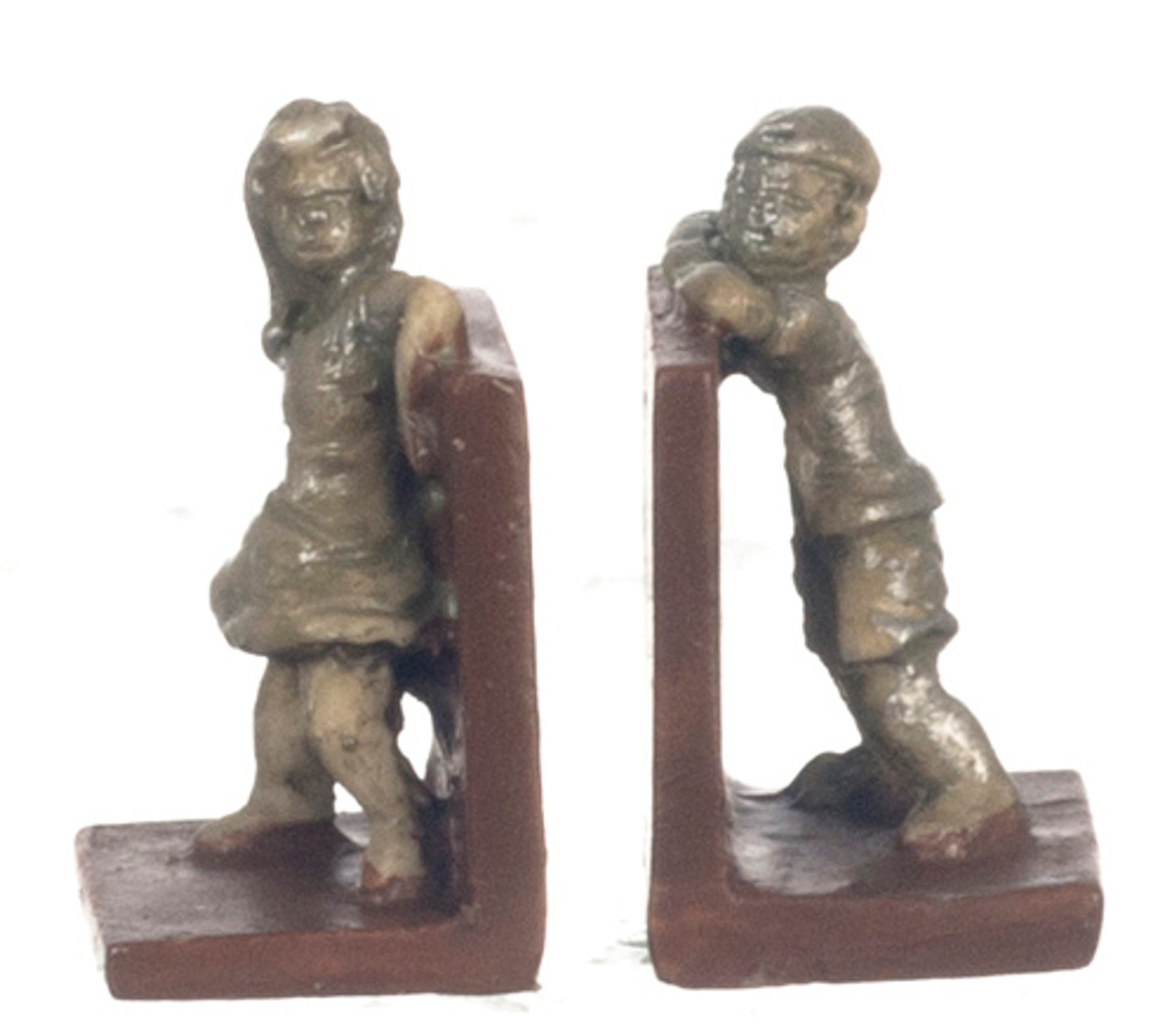 Dollhouse City - Dollhouse Miniatures Bookends Hide and Seek - Silver
