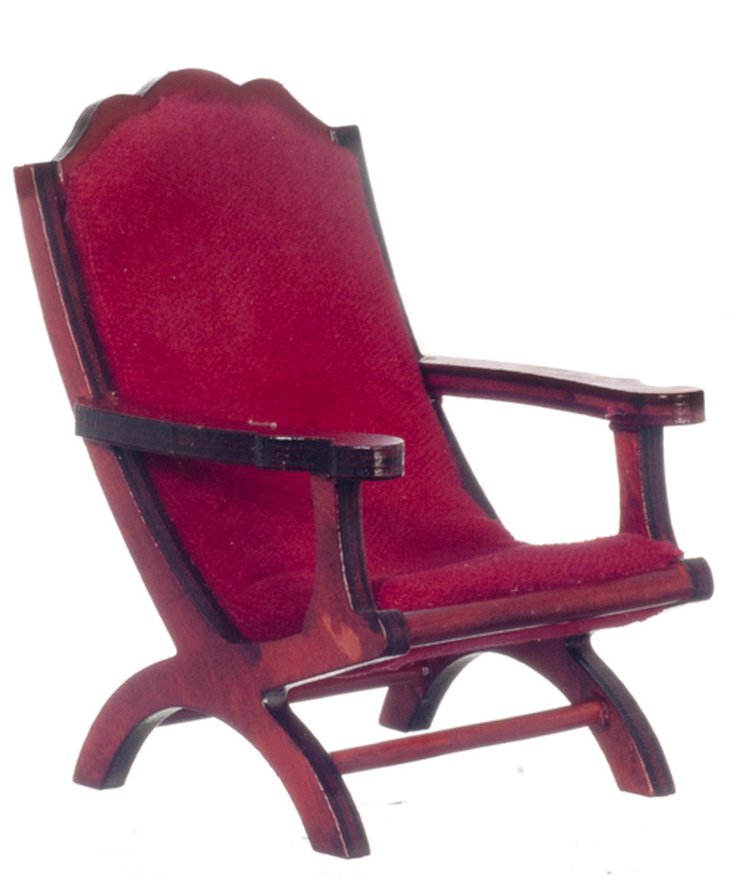 Campeach Chair - Mahogany and Red