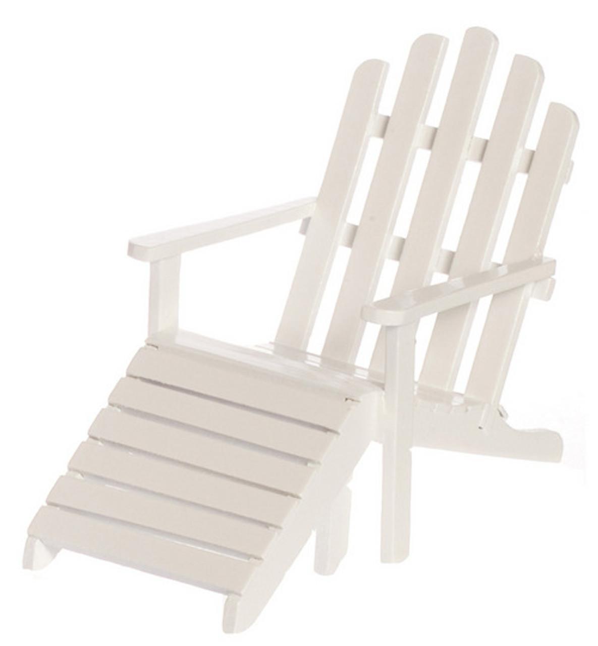 Adirondack Chair Stool - White