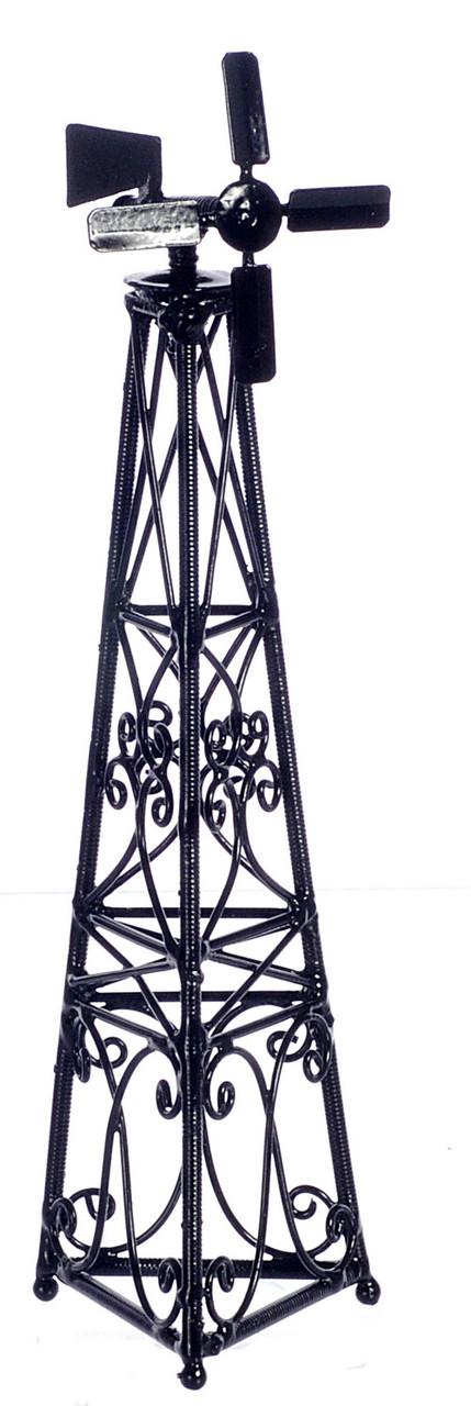 Dollhouse City - Dollhouse Miniatures Windmill on Stand - Black