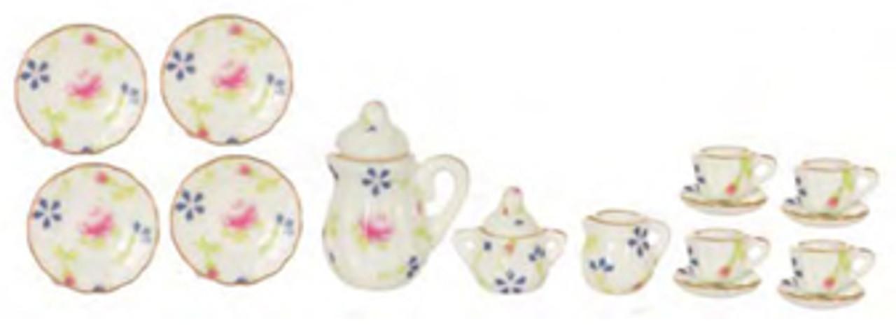 Porcelain Tea Set - White