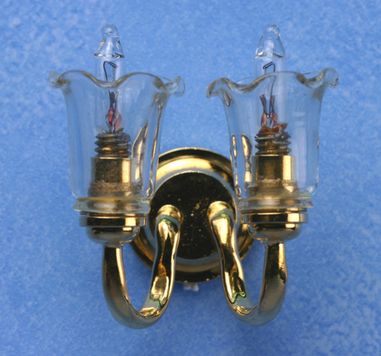 Double Wall Sconce - Clear
