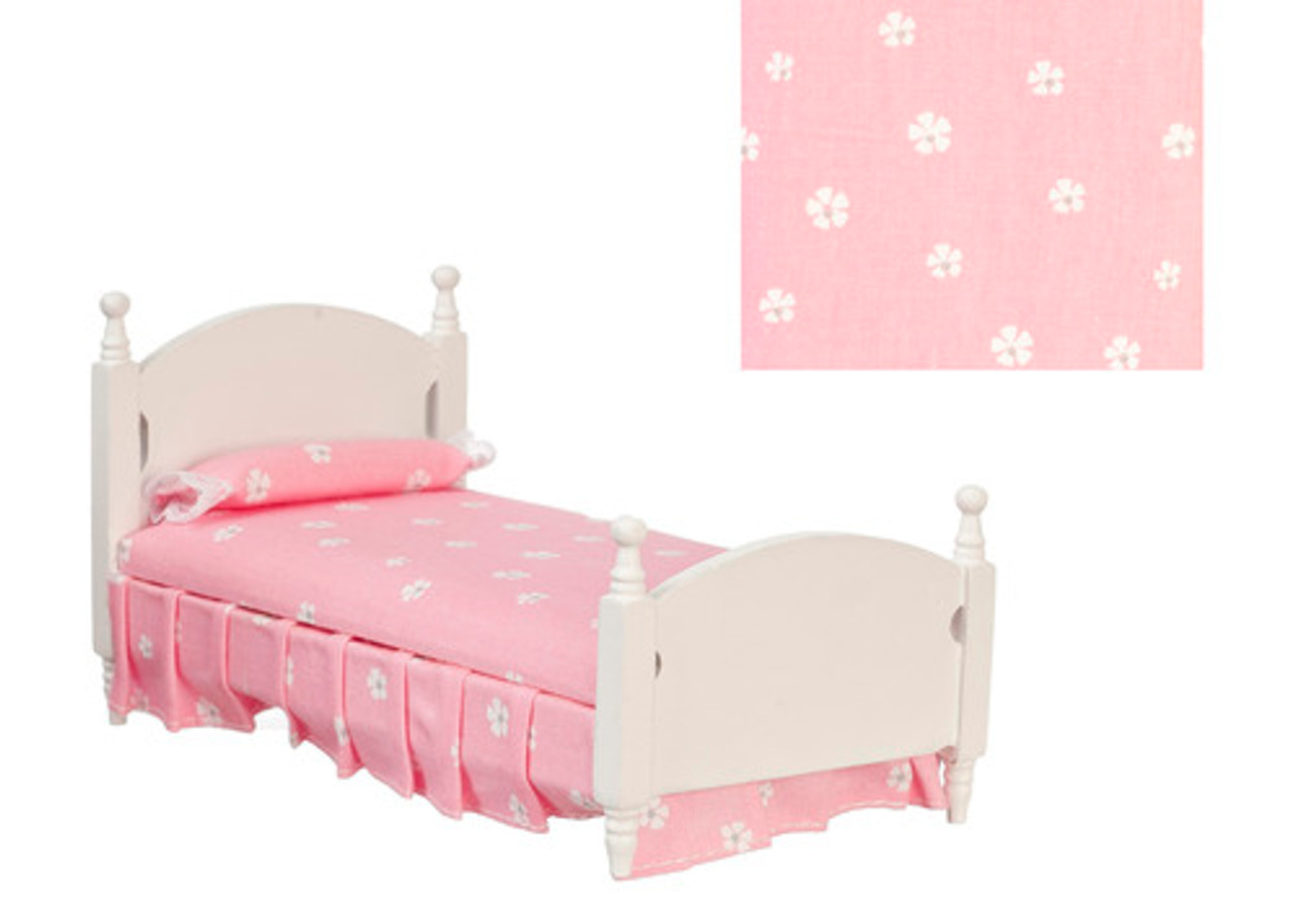 Single Bed - Pink and White