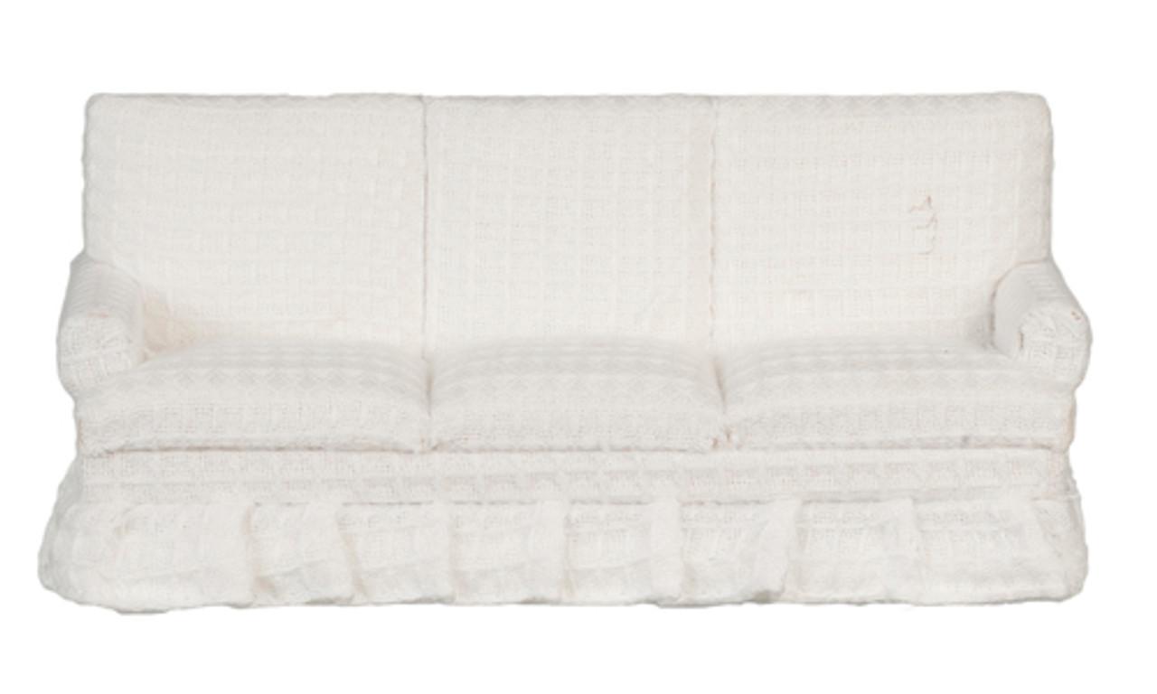 Sofa - White - Walnut