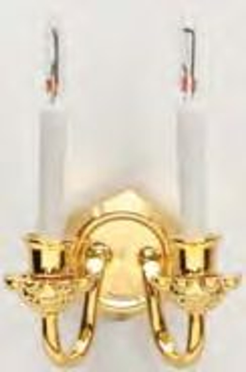 Double Candle Wall Sconce - Bi-Pin
