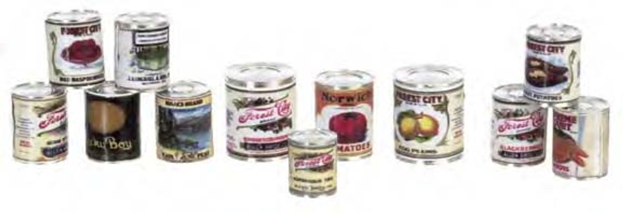 Food Cans Set - Assorted