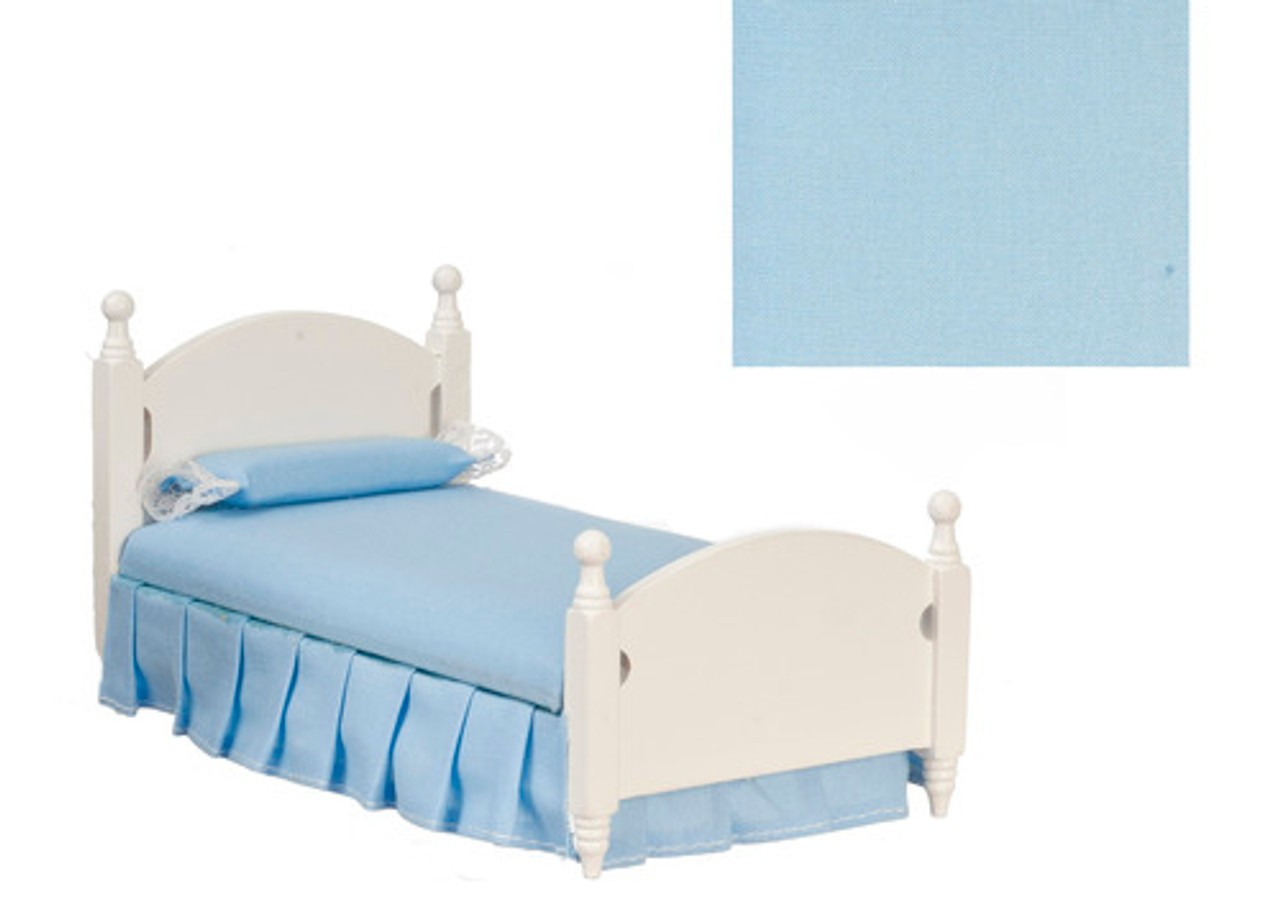 Single Bed - Blue and White