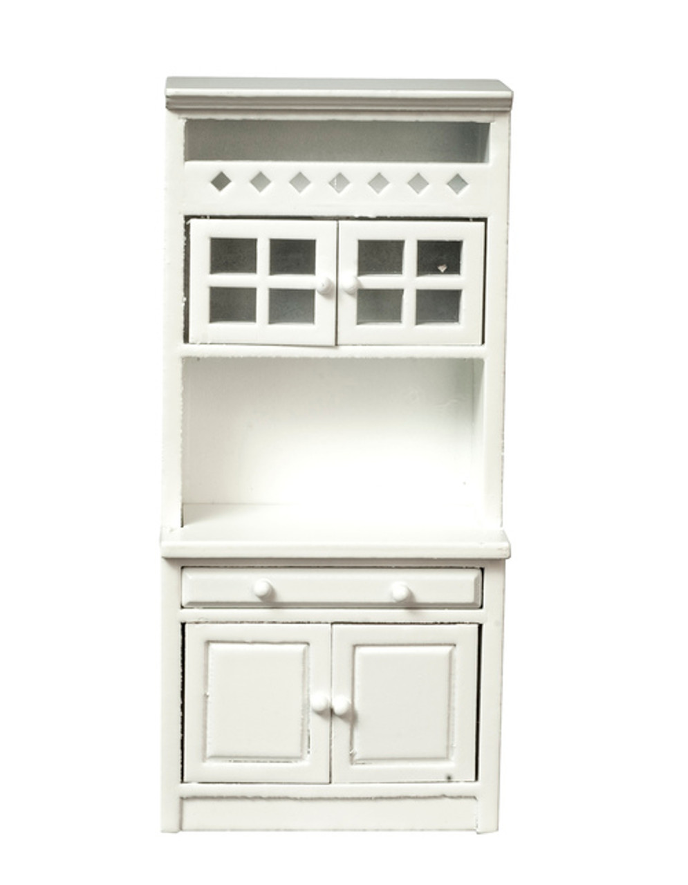 Cabinet with Shelves - White and Marble