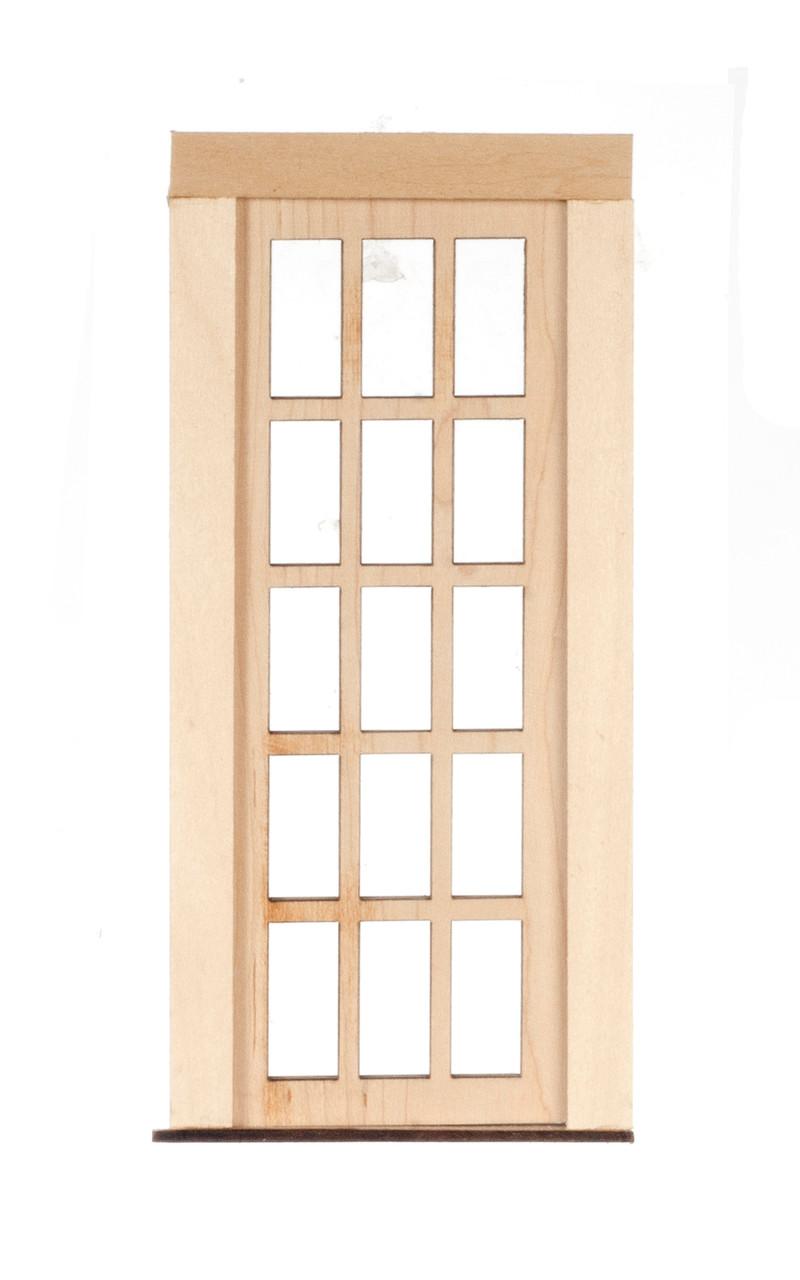 Dollhouse City - Dollhouse Miniatures 15 Light French Door