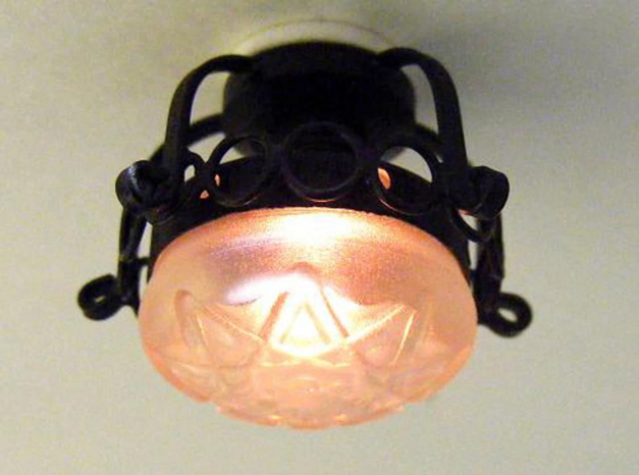 Dollhouse City - Dollhouse Miniatures Scrollded Iron Ceiling Lamp