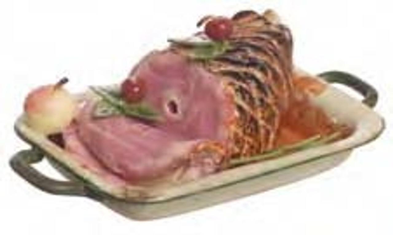 Ham on Cooking Pan