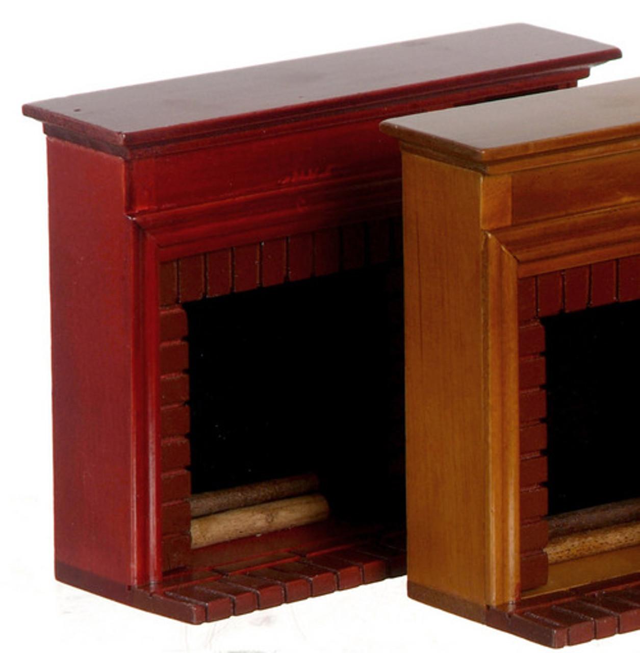 Fireplce with Shelves - Mahogany