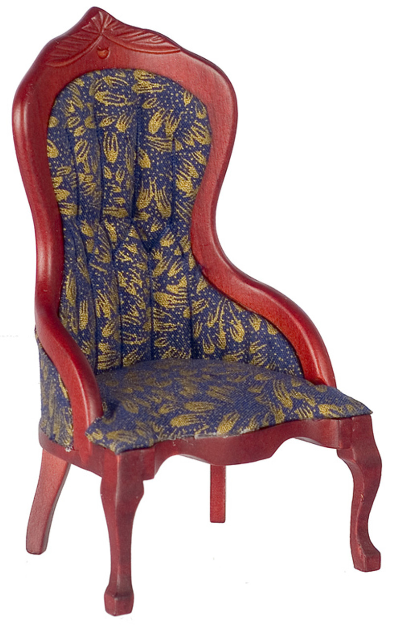 Dollhouse City - Dollhouse Miniatures Victorian Lady's Chair - White Brocade