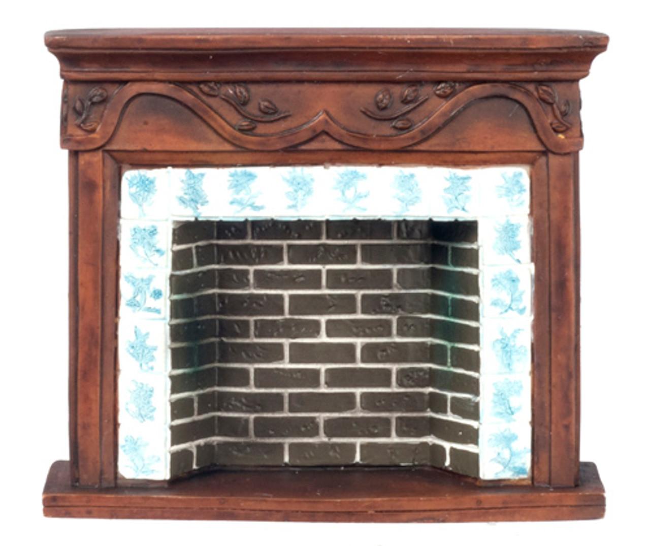 Dollhouse City - Dollhouse Miniatures Brown Resin F.P. Mantle