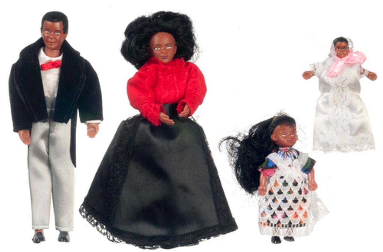 Black Victorian Doll Family - 4 pc