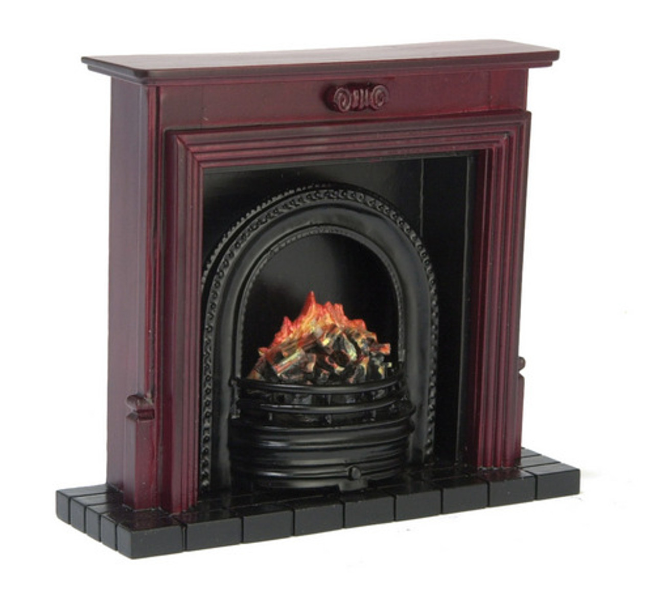 Fireplace with Insert - Mahogany