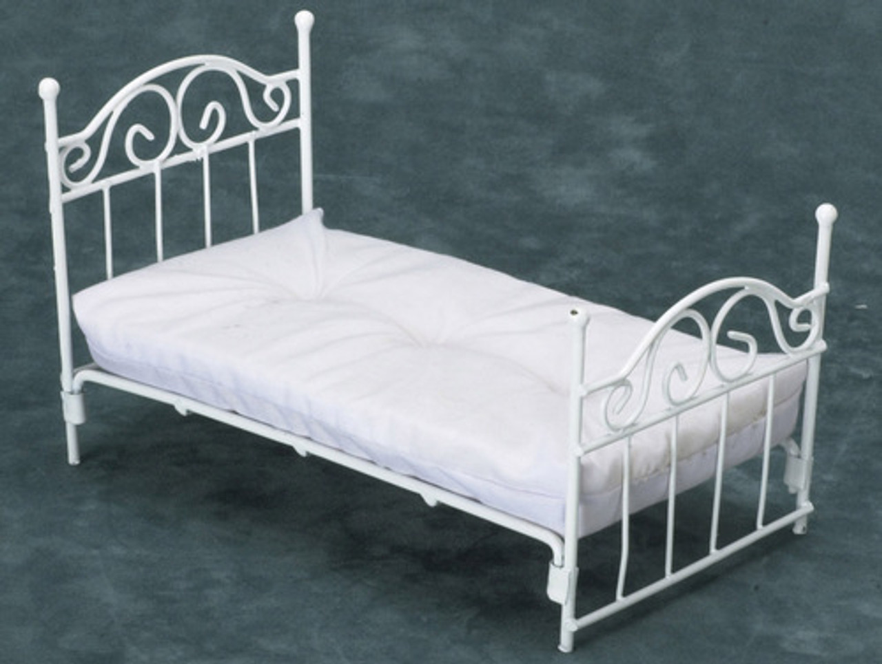 White Single Bed with Mattress