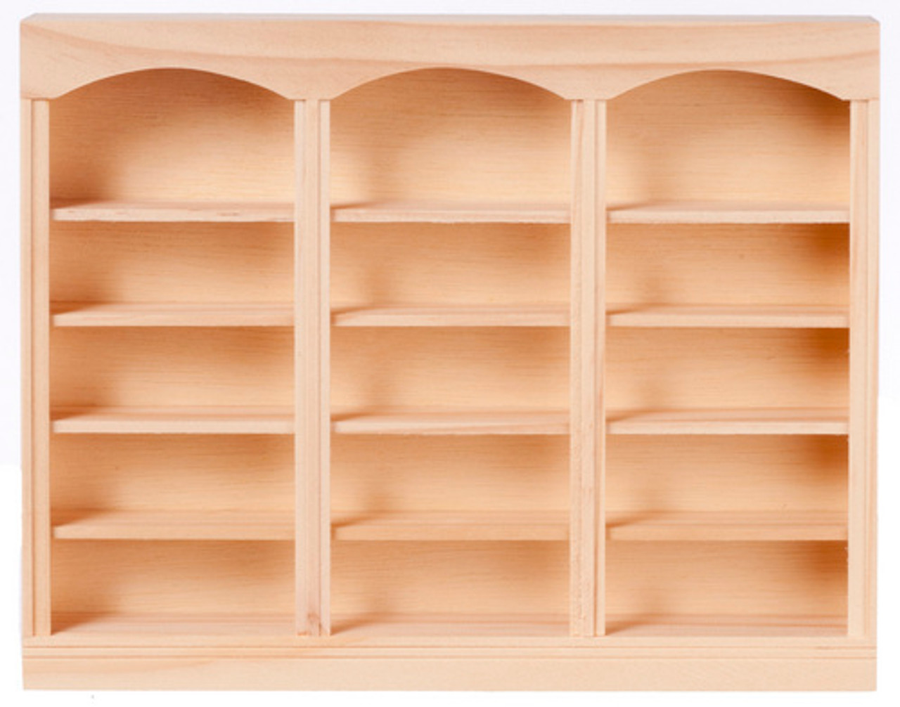 3-Unit Bookcase - Unfinished and Fully Shelved