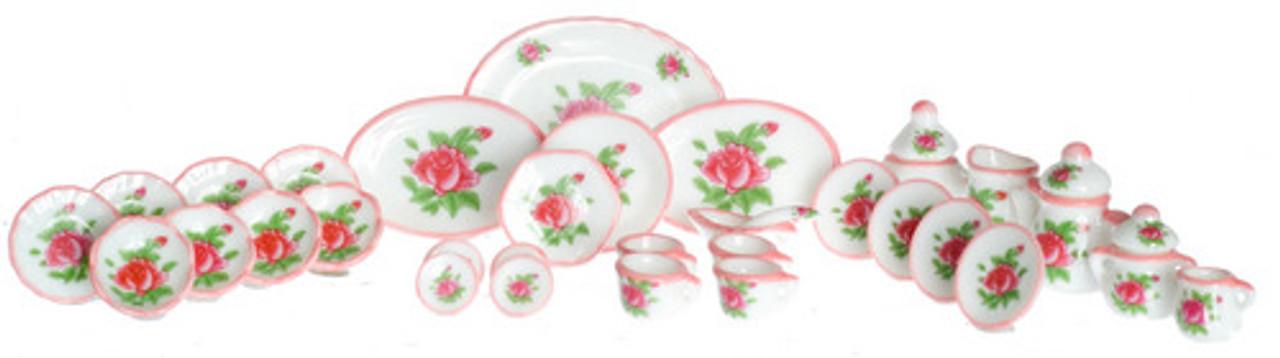 Tea Set - Red Roses
