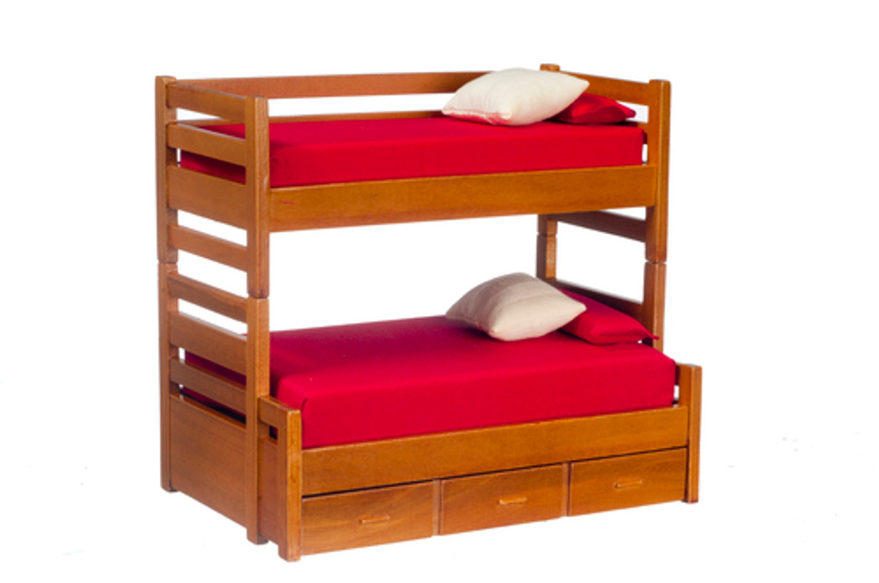 Bunk Bed with Trundle - Walnut