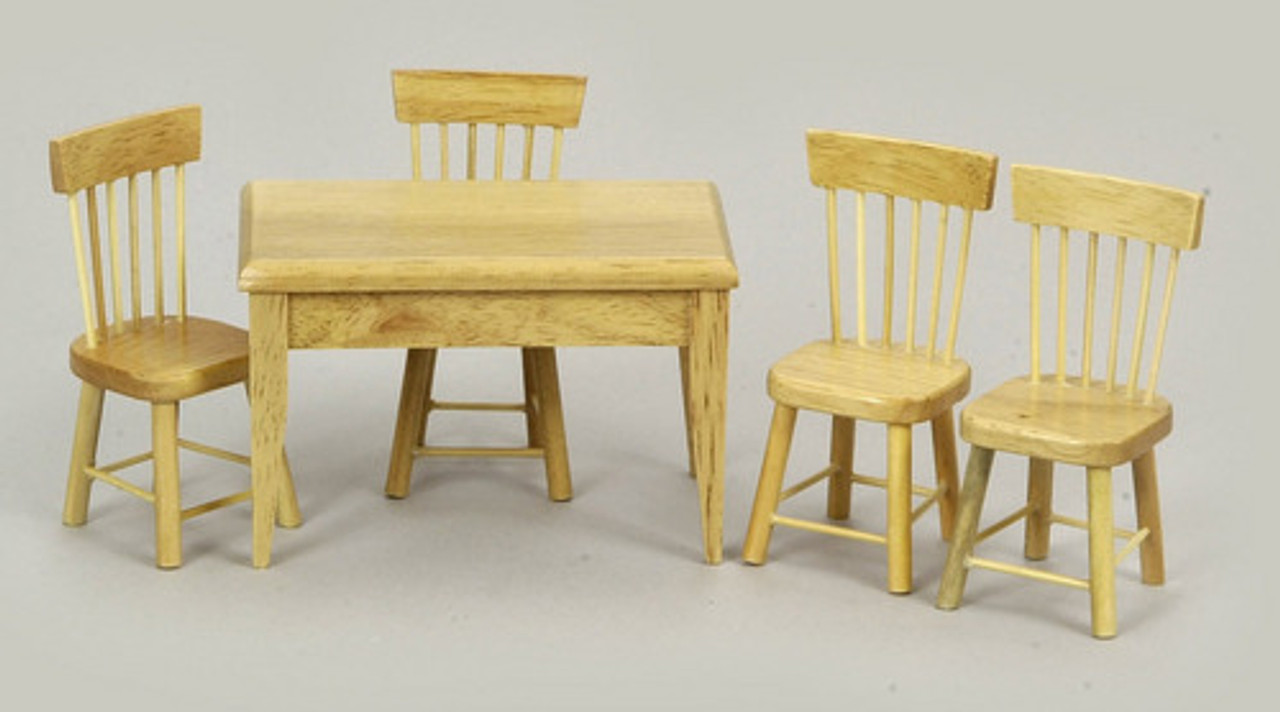 Table and Chair Set - Oak