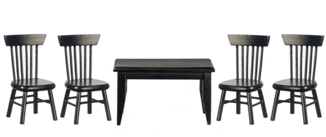 Table and Chair Set - Black
