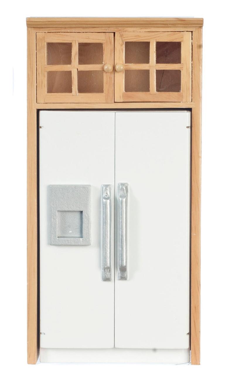 Refrigerator with Cabinet - Oak