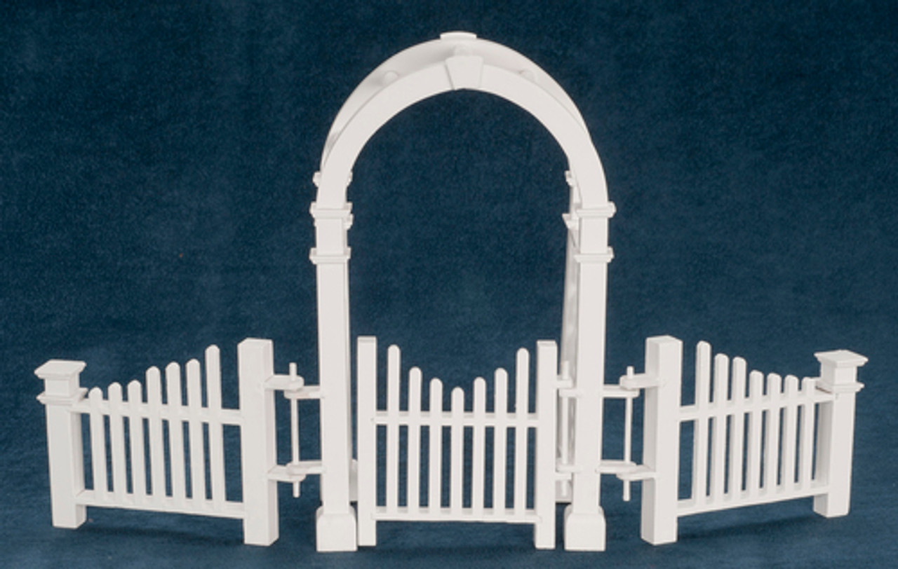 Arbor with Gate and Fence