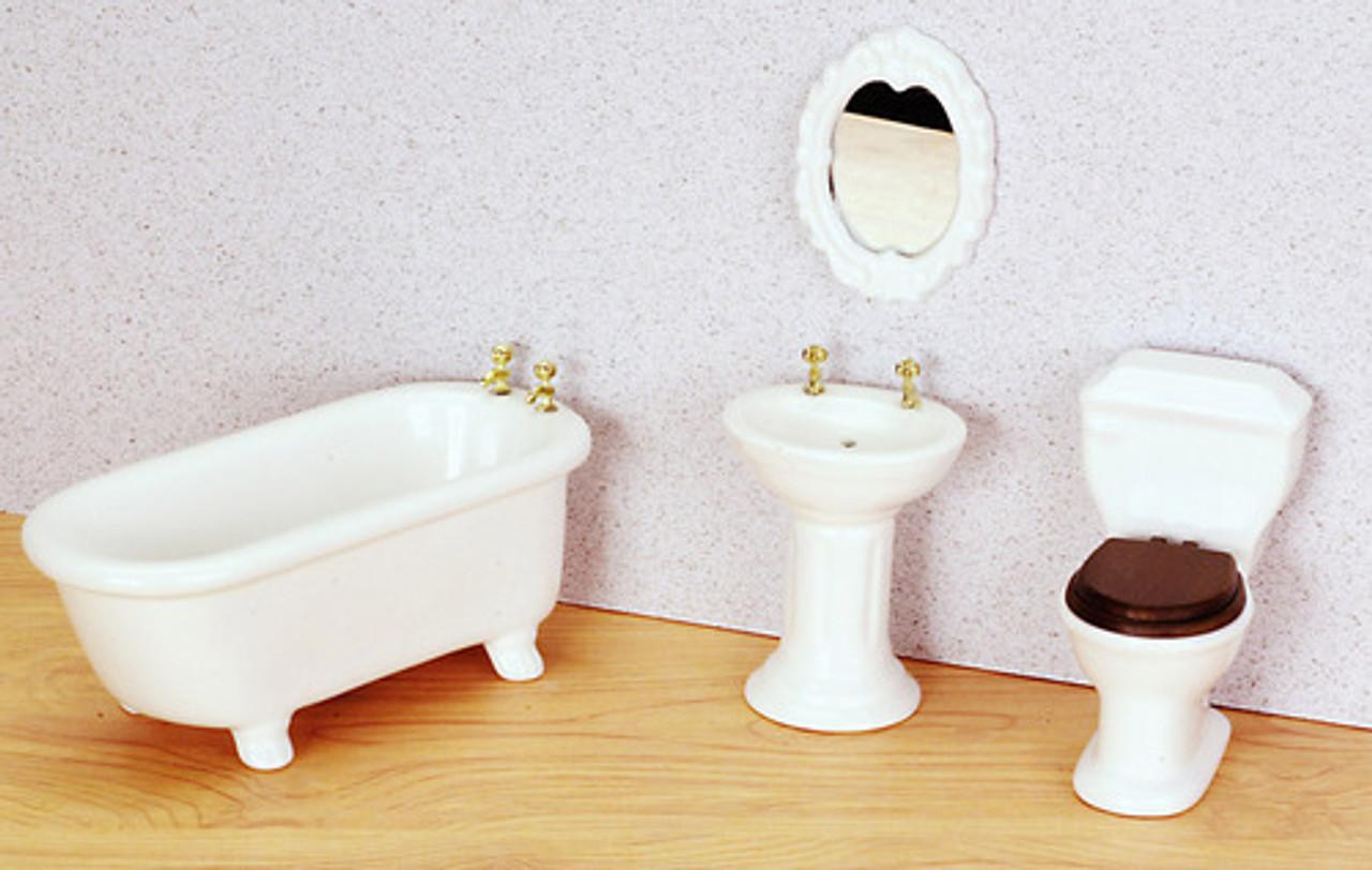 White Bathroom Set