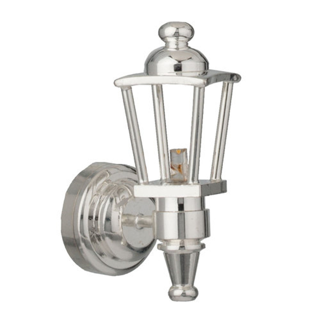 LED Silver Carriage Lamp