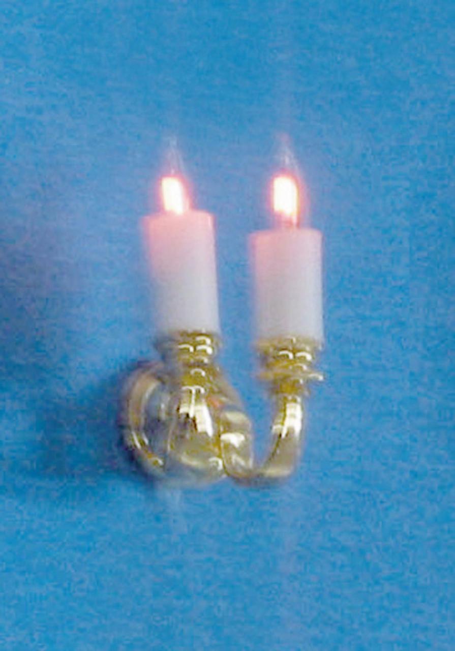 Dollhouse City - Dollhouse Miniatures Dual-Candle Scone