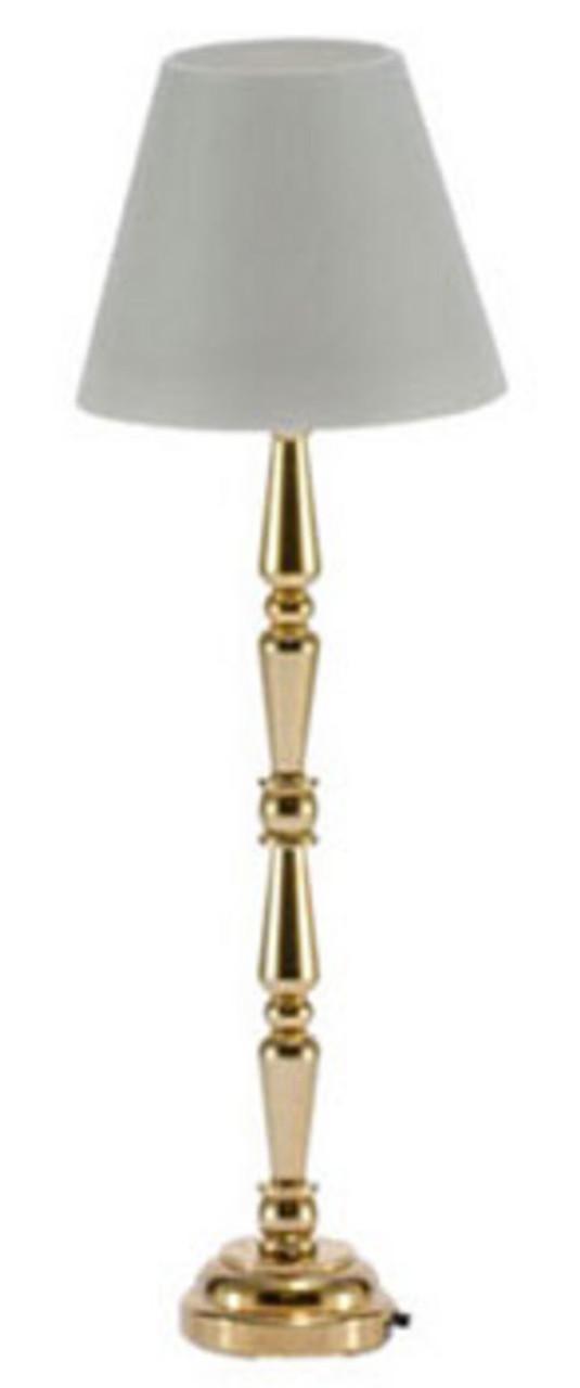 LED Brass Floor Lamp - Gold