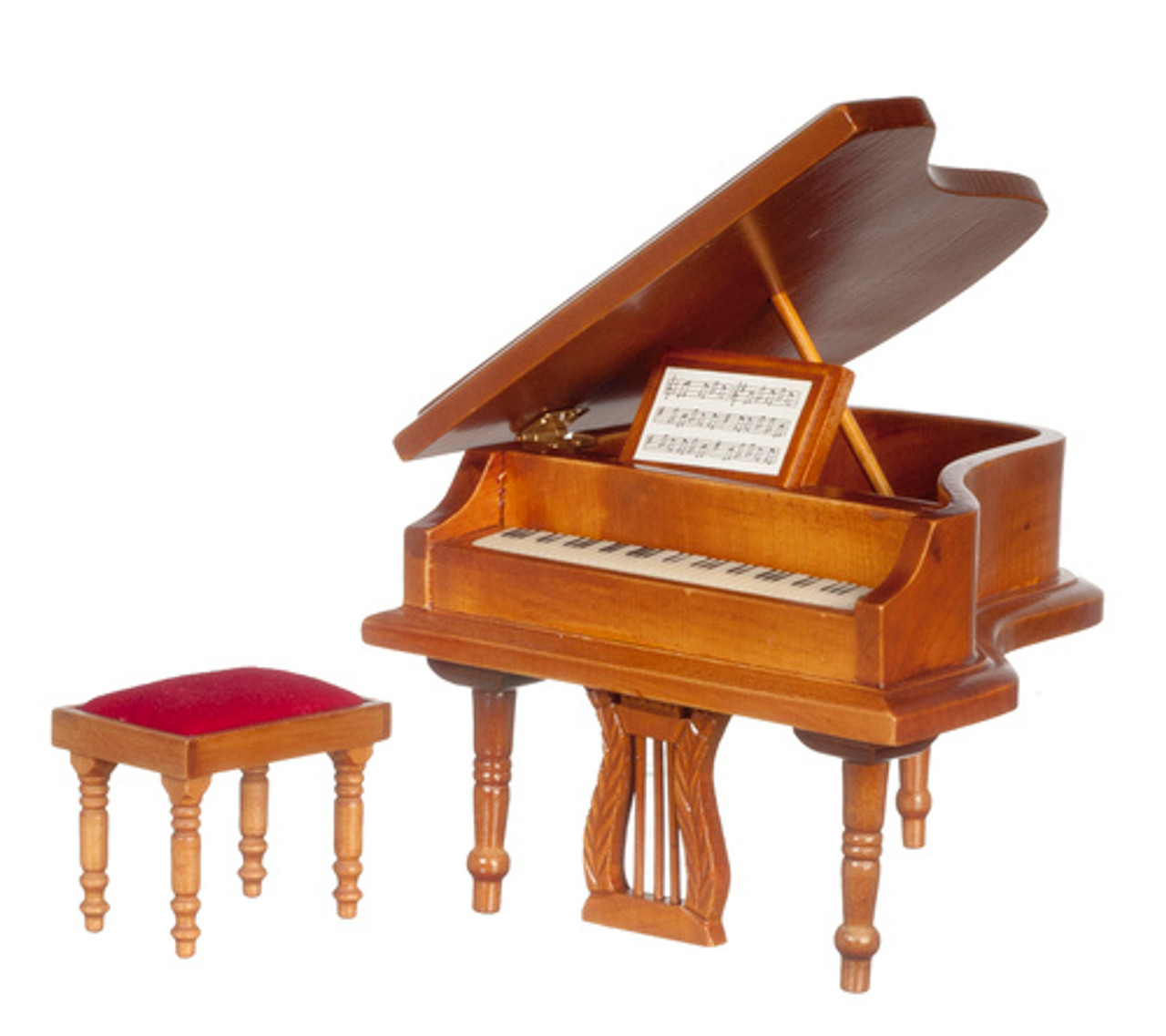 Piano With Bench - Walnut