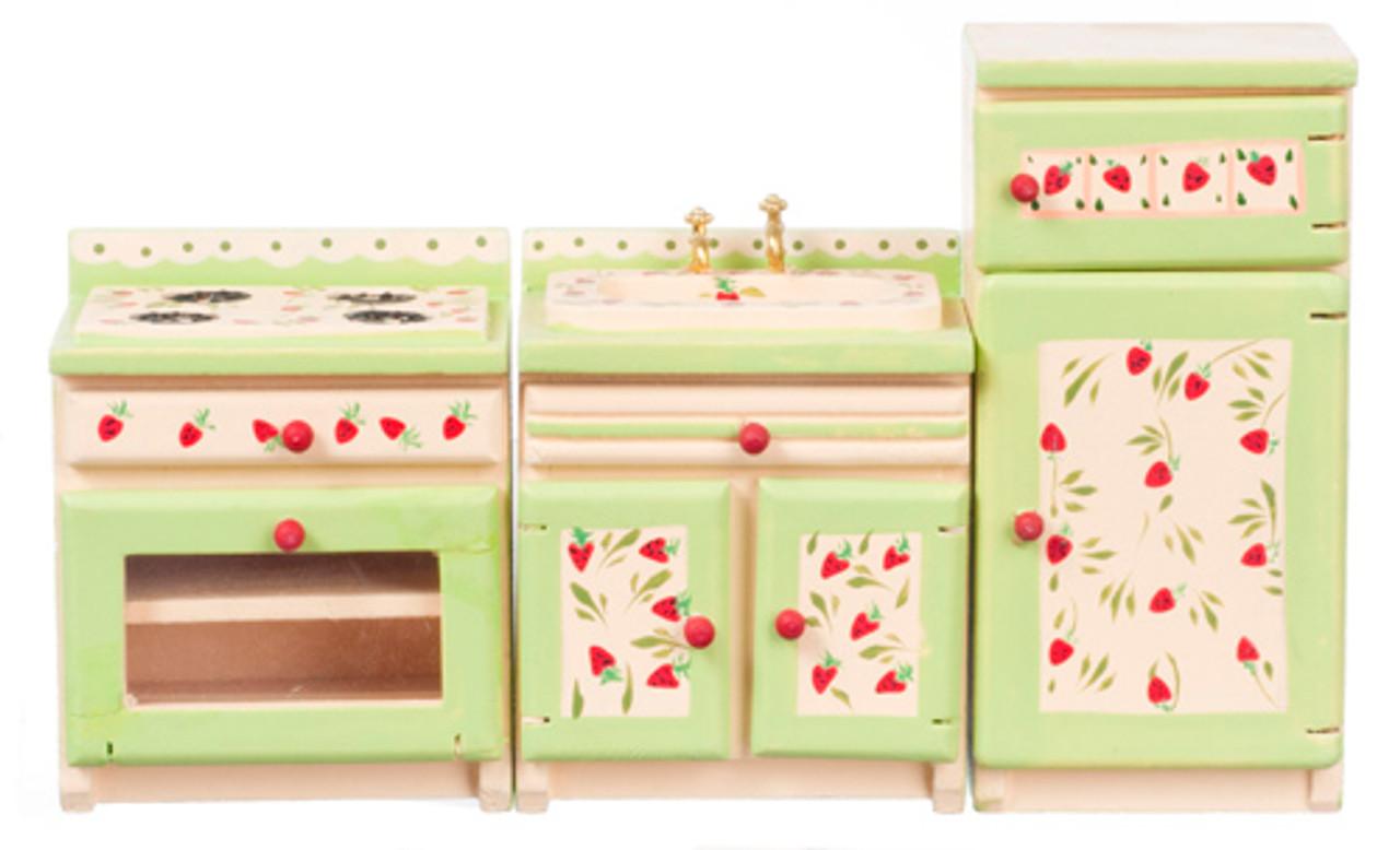 Dollhouse City - Dollhouse Miniatures Strawberry Appliance Set