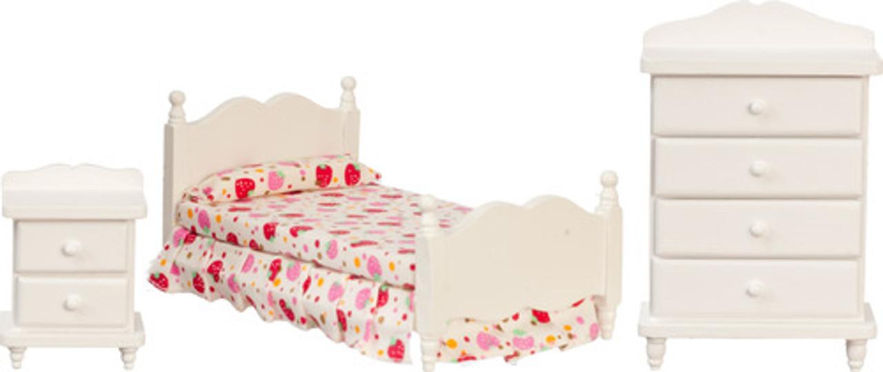 Single Bed Set - White