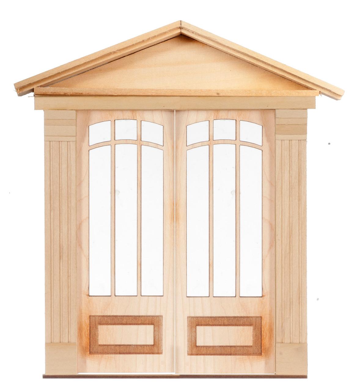 Dollhouse City - Dollhouse Miniatures 6 Light - 1 Raised Double Door
