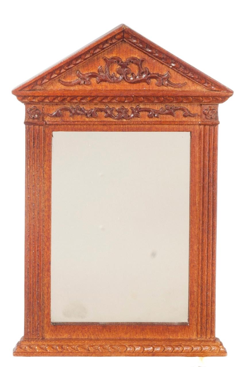Hand  Carved Mirror - Walnut