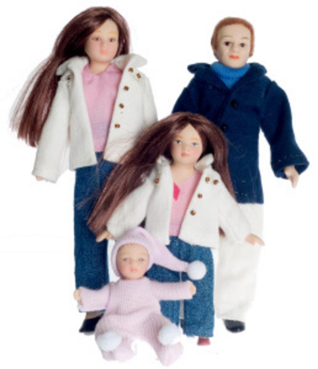 Porcelain Doll Family Set